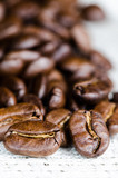Coffee beans in a linen napkin