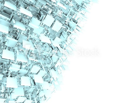 abstract fragmented backdrop pattern in blue gray white