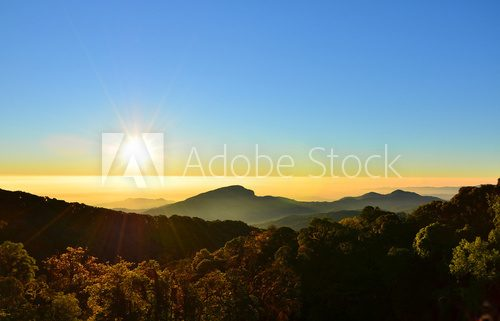 Mountain Landscape at Sunrise