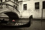 pink flowers and gondola