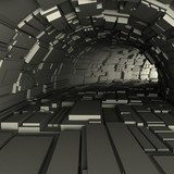 3d render of a tunnel