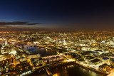 Aerial Panorama of London during the blue hour