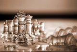Chess pieces - business concept series: compete, strategy, win