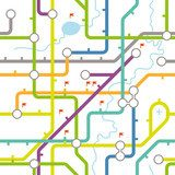 Subway map texture
