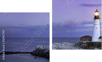 Portland Head Light - Zweiteiliges Bild, Diptychon