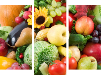 fruits and vegetables - Dreiteiliges Bild, Triptychon