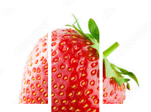 Strawberry isolated on white background - Dreiteiliges Leinwandbild, Triptychon