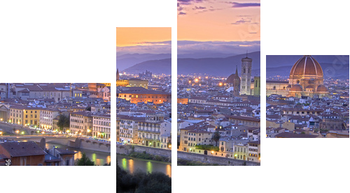 Sunset in Florence - Vierteiliges Bild, Viertychon