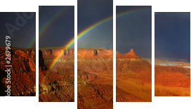 rainbows of canyonlands - Fünfteiliges Bild, Pentaptychon