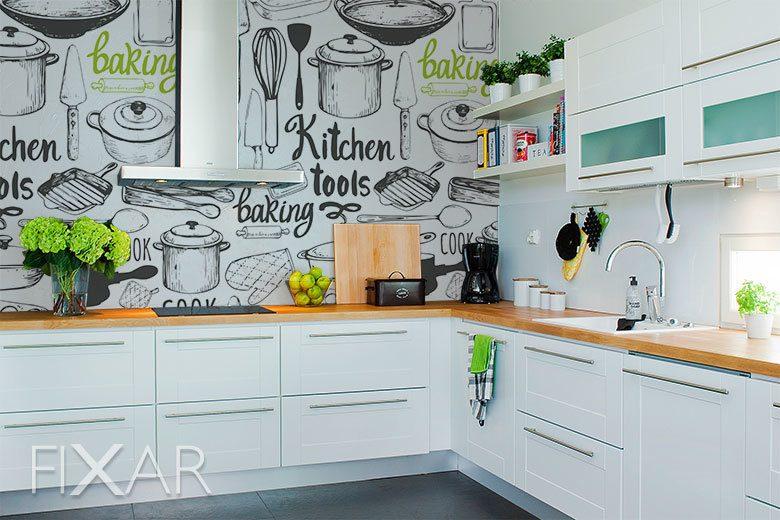 Wandbilder für die Küche ohne Fenster