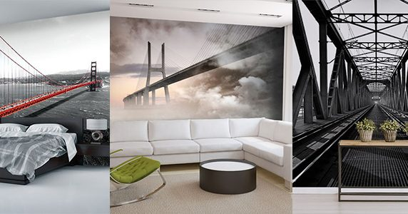 fototapeten br cken viadukte steg. Black Bedroom Furniture Sets. Home Design Ideas