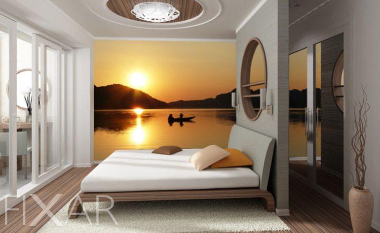 Der Traum auf den Seen - Fototapete für Schlafzimmer - Schlafzimmer ...