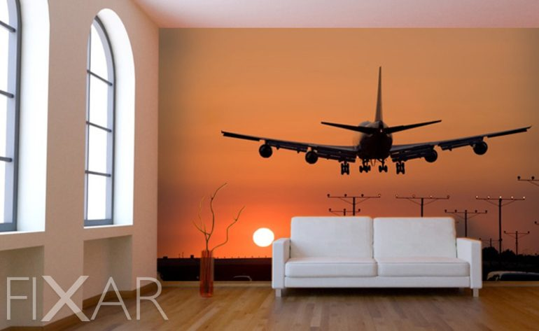 eine neue bahn der dekoration - fototapete fürs wohnzimmer, Wohnzimmer
