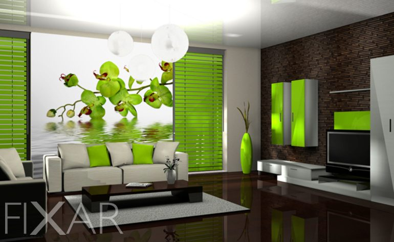 fototapeten orchidee mit orchidee. Black Bedroom Furniture Sets. Home Design Ideas