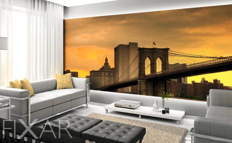 Die Wohnzimmer von New York - Fototapete fürs Wohnzimmer ...
