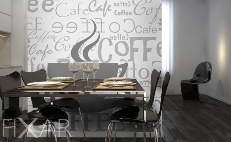 ein restaurant zu hause fototapeten f r k che. Black Bedroom Furniture Sets. Home Design Ideas