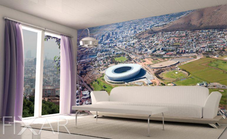 Weltmeisterschaft im Wohnzimmer - Fototapete fürs Wohnzimmer ...