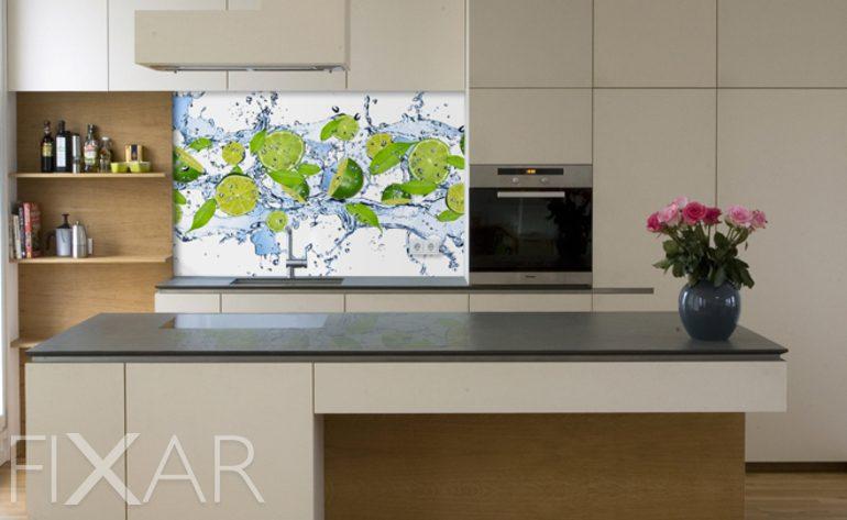 erfrischende limonen fototapeten f r k che. Black Bedroom Furniture Sets. Home Design Ideas