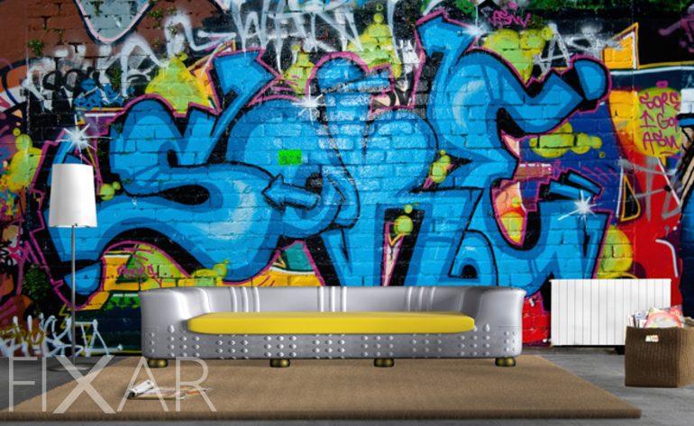 Idee poster küche retro : Hausgemachtes Graffiti - Fototapeten graffiti - Fototapeten - FIXAR.de
