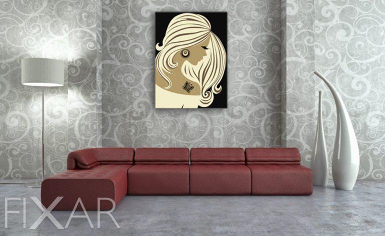 ein frauenprofil poster und wandbilder f r wohnzimmer bilder und poster. Black Bedroom Furniture Sets. Home Design Ideas