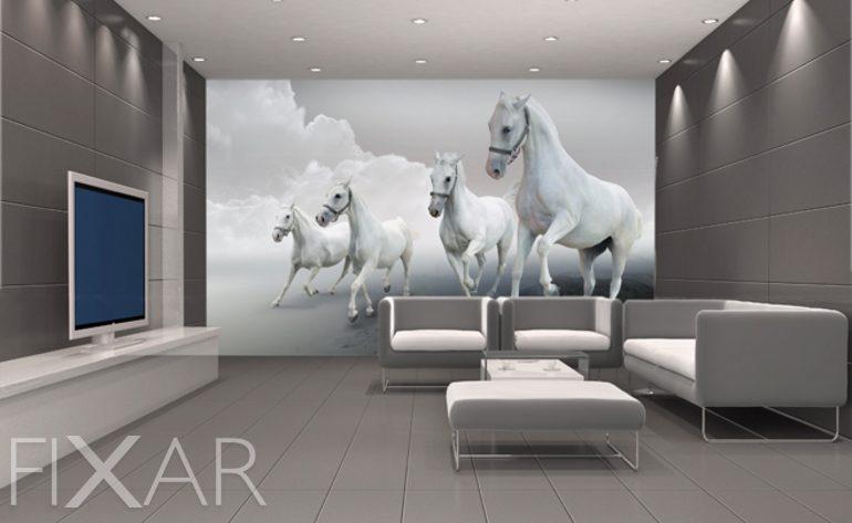 Galoppierende Pferde   Fototapete Fürs Wohnzimmer   Wohnzimmer Tapeten Von  FIXAR   Fototapeten   FIXAR.de