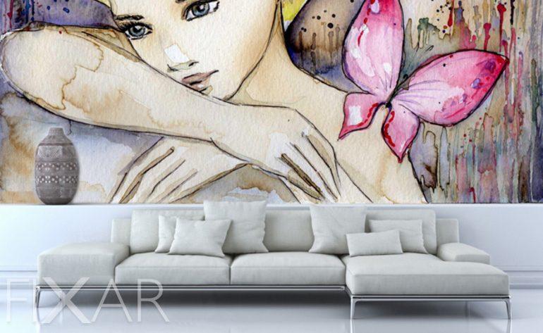 Sinnlicher Blick - Fototapete fürs Wohnzimmer - Wohnzimmer-Tapeten ...