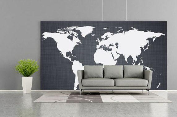 weltkarte selbst gestalten wohndesign und inneneinrichtung. Black Bedroom Furniture Sets. Home Design Ideas