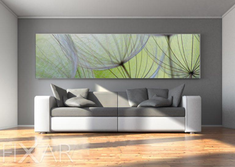 blaue olive fototapete mit pusteblume fototapeten. Black Bedroom Furniture Sets. Home Design Ideas