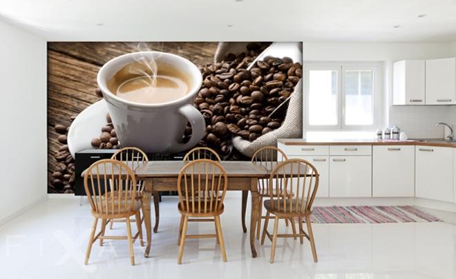 Eine Tasse Kaffee - Fototapeten für Küche - Küchentapeten ...