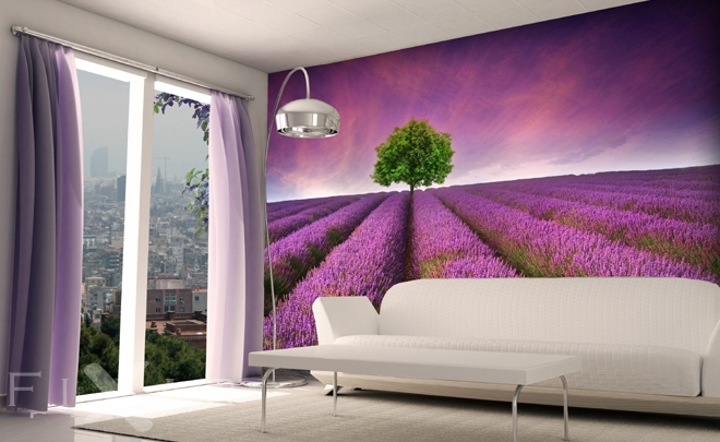 fototapeten provence lavendel dekorationen. Black Bedroom Furniture Sets. Home Design Ideas