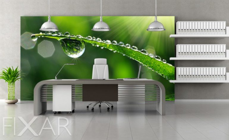 Idee poster küche retro Tautropfen - Fototapeten fürs Büro - Fototapeten - FIXAR.de