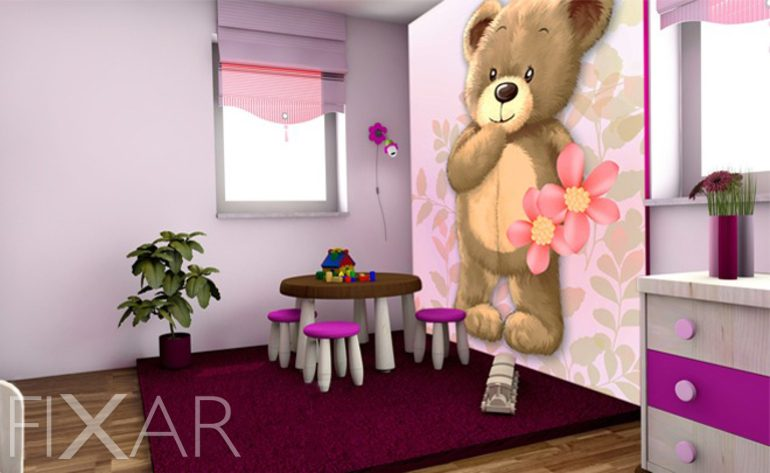 teddyb r kinder fototapeten fototapete f r kinderzimmer fototapeten. Black Bedroom Furniture Sets. Home Design Ideas