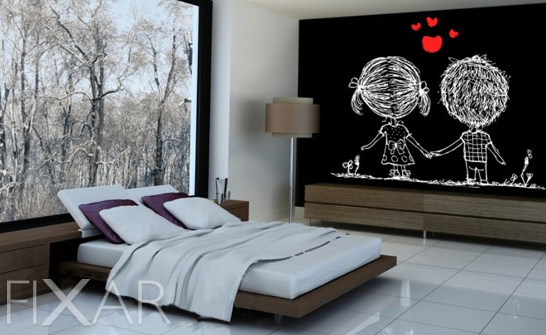fototapete schlafzimmer liebe. Black Bedroom Furniture Sets. Home Design Ideas