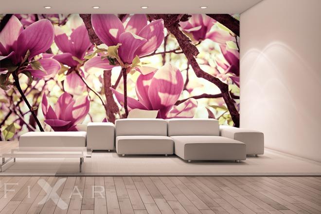 bl hendes innere fototapeten blumen fototapeten. Black Bedroom Furniture Sets. Home Design Ideas