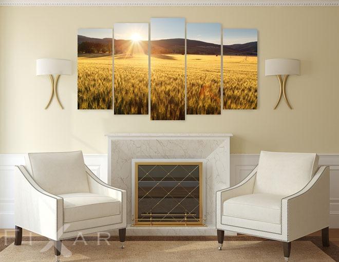 sonniges feld poster und bilder landschaften bilder und poster. Black Bedroom Furniture Sets. Home Design Ideas