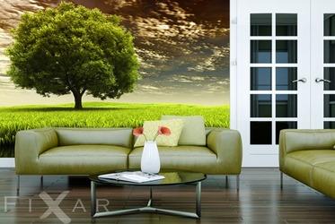 Fotografisches fenster auf new york fototapete f rs wohnzimmer wohnzimmer tapeten von fixar - Baum fur wohnzimmer ...