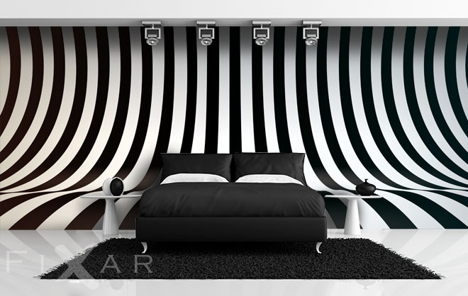 originelle zebra fototapeten schwarz und wei. Black Bedroom Furniture Sets. Home Design Ideas