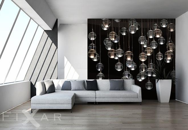 Bilder Furs Wohnzimmer : Bezaubernde kleine lampen fototapete fürs wohnzimmer