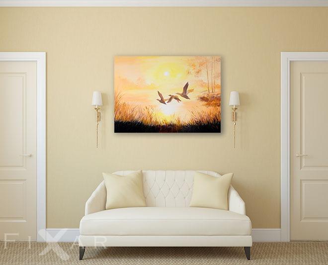 enten im flug - poster und wandbilder für wohnzimmer - bilder und, Wohnzimmer