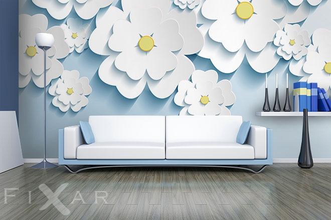 holzblumen fototapete f rs wohnzimmer wohnzimmer tapeten von fixar fototapeten. Black Bedroom Furniture Sets. Home Design Ideas