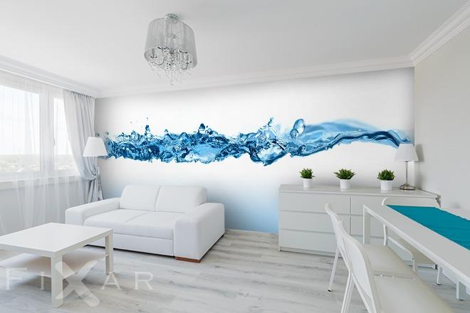 wasserwelle fototapete f rs wohnzimmer wohnzimmer tapeten von fixar fototapeten. Black Bedroom Furniture Sets. Home Design Ideas