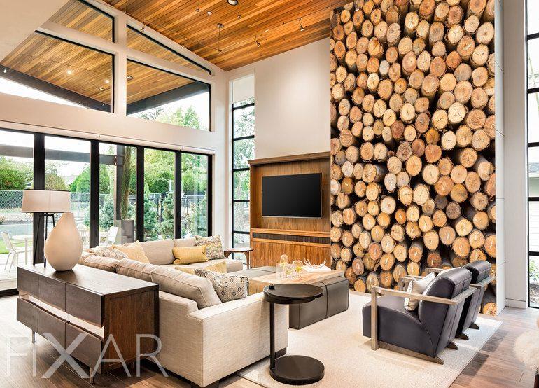 holztr ume an ihrer w nde fototapete f rs wohnzimmer wohnzimmer tapeten von fixar. Black Bedroom Furniture Sets. Home Design Ideas