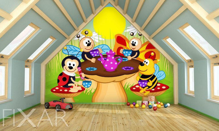 Fototapeten fürs Kinderzimmer: Inneneinrichtung ...
