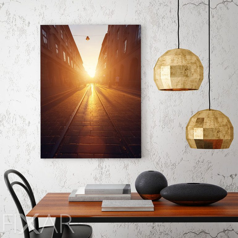auf dem weg in richtung sonne poster und wandbilder f r wohnzimmer bilder und poster. Black Bedroom Furniture Sets. Home Design Ideas
