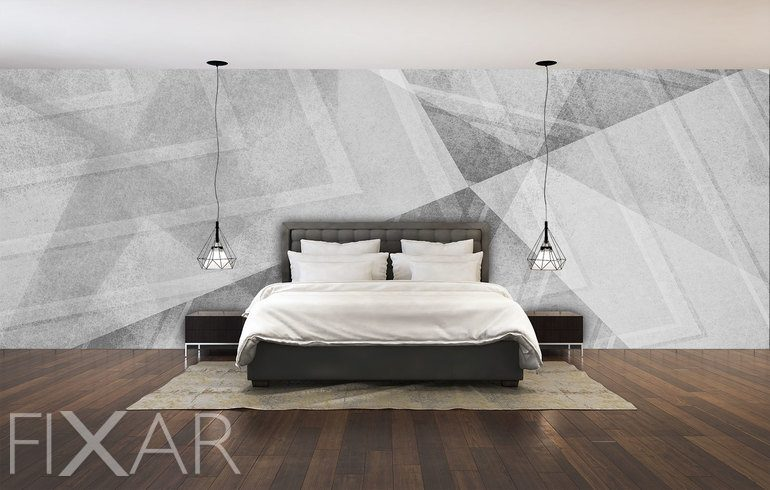 grau auf grau licht und schattenspiel fototapete f r. Black Bedroom Furniture Sets. Home Design Ideas