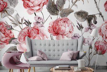 fototapeten mit blumen blumen furniere. Black Bedroom Furniture Sets. Home Design Ideas