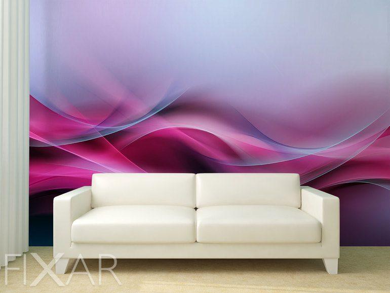 6c333802a38e In den Wellen aus Abstraktionen gewebt - Fototapete fürs Wohnzimmer ...