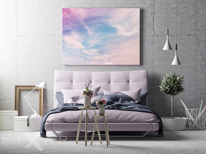Wolken Auf Dem Himmel Zerzauste Den Wind Wandposter Und Wandbilder