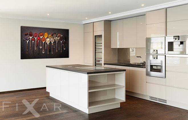 l ffel mit aroma k chenposter und wandbilder f r k che bilder und poster. Black Bedroom Furniture Sets. Home Design Ideas