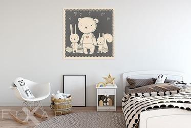 dein freund bear poster und bilder f r kinderzimmer bilder und poster. Black Bedroom Furniture Sets. Home Design Ideas
